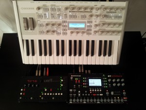 Live setup at home in the studio